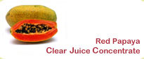 Red Papaya Frozen Clear Juice Concentrate